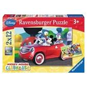 Παζλ Ravensburger Disney Μίκυ, Μίνι & Φίλοι 2x12 Κομμάτια 07565