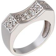 Δαχτυλίδι από λευκό χρυσό 14 καρατίων με ζιρκόν. HR00250