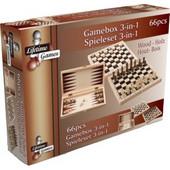 Ξύλινο Σετ Παιχνιδιού 3 σε 1 για ατελείωτες ώρες παιχνιδιού που περιλαμβάνει Τάβλι Σκάκι και Ντάμα, Lifetime Games 48762 - Lifetime Games - 00010917