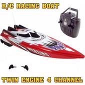 Τηλεκατευθυνόμενο Ταχύπλοο Σκάφος 2 Κινητήρων, 4 Καναλιών Racing Boat C202