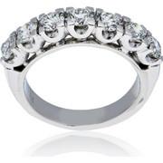 Δαχτυλίδι Σειρέ Λευκό Χρυσό 18 Καρατίων (Κ18) με Διαμάντια, 009704