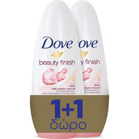Dove Roll On Beauty Finish 2x50ml