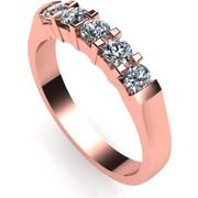 Δαχτυλίδι σειρέ σε λευκό χρυσό Κ18 με 5 μπριγιάν βάρος 0, 11 ct έκαστο