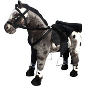Vedes Άλογο σταθερό μαυρόασπρο με ήχο