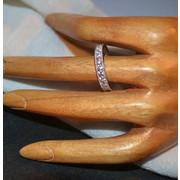 Δαχτυλίδι ασημένιο - βέρα- μέ ζιργκόν ολόκληρη -1150