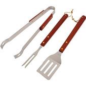 Εργαλεία BBQ 3 τεμ. με ξύλινη λαβή - OEM HL020023