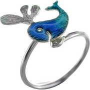 Χειροποίητο δαχτυλίδι φαλαινάκι από ασήμι