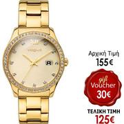 Vogue Glam Crystals Gold Stainless Steel Bracelet 81019.1