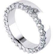 Δαχτυλίδι σειρέ σε λευκό χρυσό Κ18 με 27 μπριγιάν