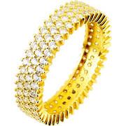 Χρυσό σειρέ δαχτυλίδι Κ14 με ζιργκόν