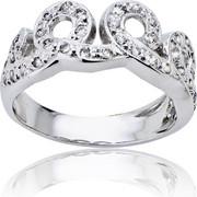 Δαχτυλίδι Γυναικείο Λευκό Χρυσό 14 Καρατίων (Κ14) με Ζιργκόν, 014154