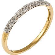 Δαχτυλίδι μισόβερο από χρυσό 18 καρατίων με διαμάντια. KV14294