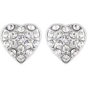 b-cool Σκουλαρίκια καρδιά Επιπλατινωμένα, με Swarovski BC20594-CR