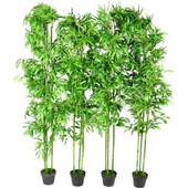 vidaXL Σετ από 4 Τεχνητά Διακοσμητικά Φυτά Μπαμπού 190cm