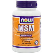 Now MSM 1500 mg (Vegetarian) 100 tabs