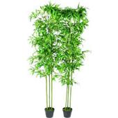 vidaXL Σετ από 2 Τεχνητά Διακοσμητικά Φυτά Μπαμπού 190cm