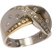 Δαχτυλίδι χρυσό και λευκόχρυσο 14 καράτια με ζιργκόν