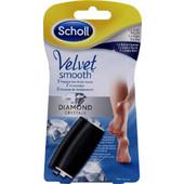 Scholl Velvet Smooth με Κρυστάλλους Διαμαντιού Ανταλλακτικά Roll-On 2τμχ