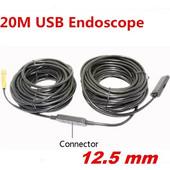 USB ενδοσκοπική κάμερα αδιάβροχη 12, 5mm με καλώδιο 20 μέτρα - Cst EN-20