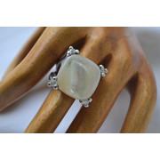 Δαχτυλίδι ασημένιο μέ φίλντισι και ζιρκόν vintage an.964