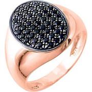 Σεβαλιέ δαχτυλίδι από ροζ χρυσό Κ14 με ζιργκόν
