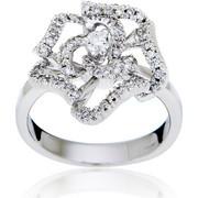 Δαχτυλίδι Κ18 με Διαμάντι, 000878