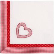 Καρέ λευκό με κόκκινο 90 x 90 εκατ. Red heart