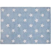 Lorena Canals χειροποίητο πλενόμενο στο πλυντήριο παιδικό χαλί Stars Blue-White Lorena Canals