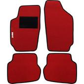 Μοκέτα Clan κόκκινη με μαύρο ρέλι για Seat Ibiza