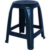 Σκαμπό Τετράγωνο Πλαστικό Μπλε Σκούρο