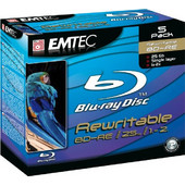 Emtec Blu-Ray BD-RE 25 GB 1-2x Speed - 5 τεμ