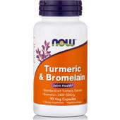 Now Turmeric & Bromelain 300/150 mg 90 vcaps