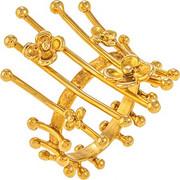 Δαχτυλίδι χειροποίητο από χρυσό 18 καρατίων με περίτεχνο σχέδιο. AN01661
