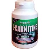 HealthAid L-Carnitine 550mg 30s