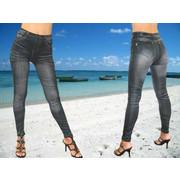 Γυναικείο Leggings κολάν σε jean look με σχεδιασμένη ζώνη