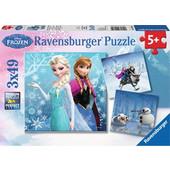 Ravensburger Παζλ - Disney Ψυχρα & Αναποδα Χειμερινες Περιπετειες (3x49 κομμ.) - 09264 Toys