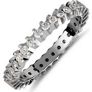 Δαχτυλίδι από λευκό χρυσό 18 καρατίων με διαμάντια. TH01867