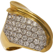 Δαχτυλίδι χρυσό και λευκόχρυσο 18 καράτια με ζιργκόν