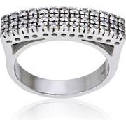 Δαχτυλίδι Κ18 με Διαμάντια, 000835