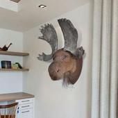 vidaXL Διακοσμητικό τοίχου Τάρανδος με φυσική όψη