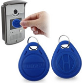 Water Resistant RFID Proximity ID Card Token Keyfobs Keychain for Access Control(Blue) SK269066