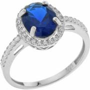 Χρυσό Δαχτυλίδι 14 Καρατίων στο Χρώμα του Ζαφειριού rng66826krv