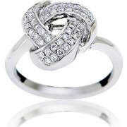 Δαχτυλίδι Λευκό Χρυσό 18 Καρατίων Κ18 με Διαμάντια Μπριγιάν, 009064
