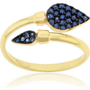Δαχτυλίδι Κίτρινο Χρυσό 14 Καρατίων Κ14 με Πέτρες Ζιργκόν, 030315