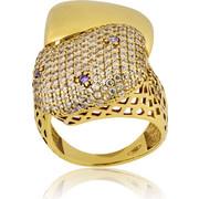 Δαχτυλίδι Κ14 με Ζιργκόν, 012065