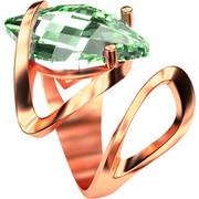 Ασημένιο δαχτυλίδι 925 με πράσινη πέτρα Swarovski AD-15835R1