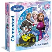 Clementoni Παζλ 96 τεμ. Disney Frozen Ρολόι φωσφορούχο 1211-23021