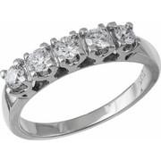 Λευκόχρυσο δαχτυλίδι Κ18 με διαμάντια 021397 021397 Χρυσός 18 Καράτια