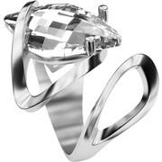 Ασημένιο δαχτυλίδι 925 με λευκή πέτρα Swarovski AD-15835L2