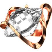 Ασημένιο δαχτυλίδι 925 με λευκή πέτρα Swarovski AD-15835R2